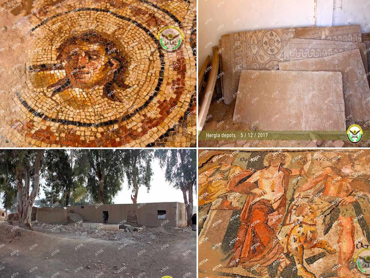 незаконные археологические раскопки в Сирии