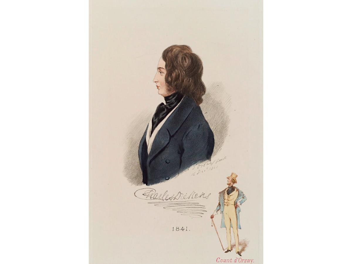 Чарльз Диккенс. Литография, автор: Альфред д'Орсе