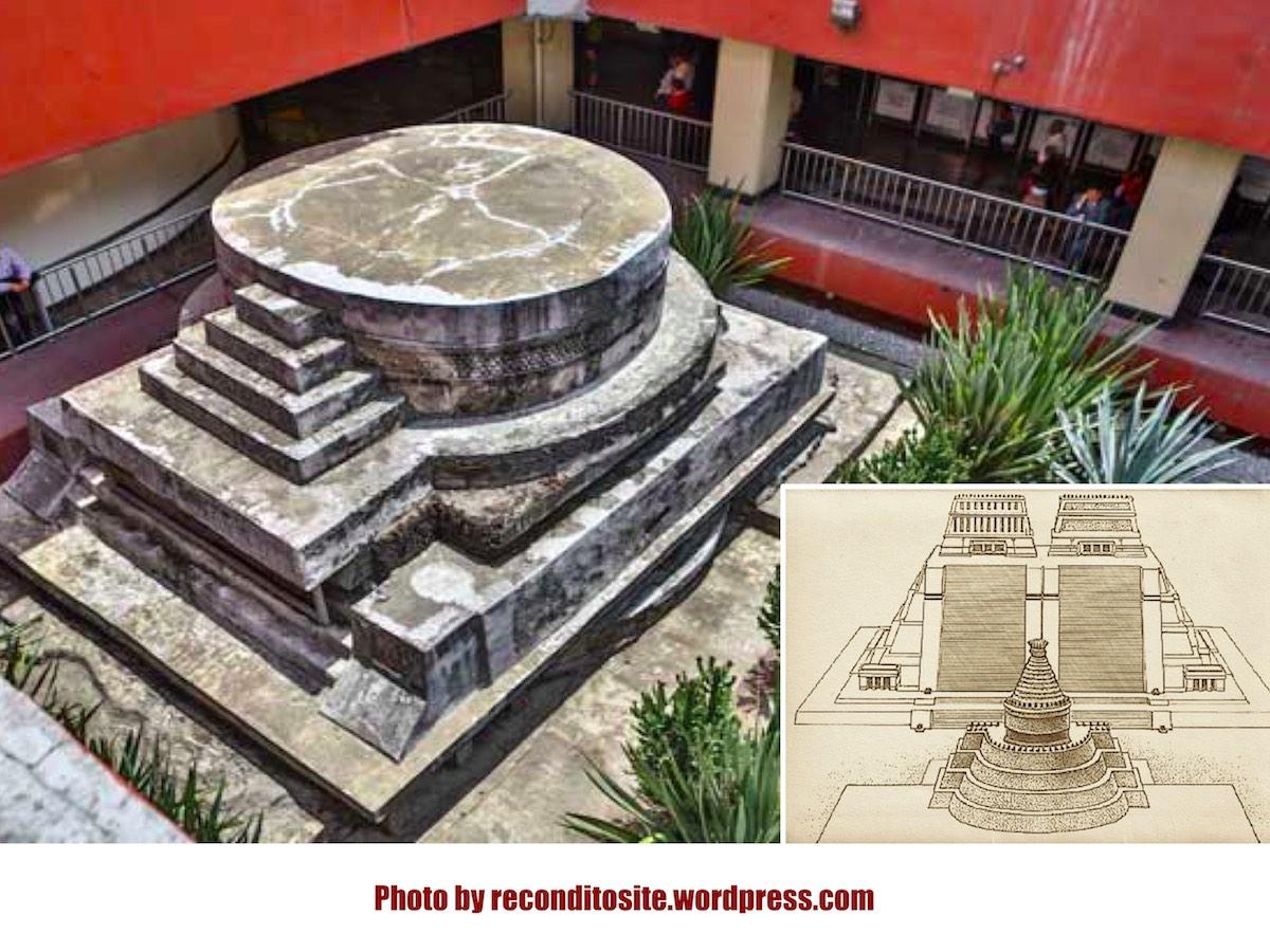 Археологический музей на станции метро Pino Suarez в Мехико