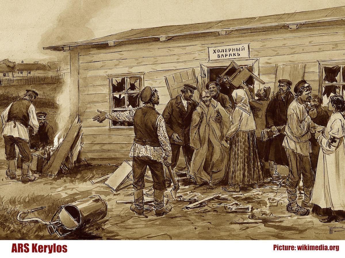 Холерный барак. Иллюстрация начала ХХ века