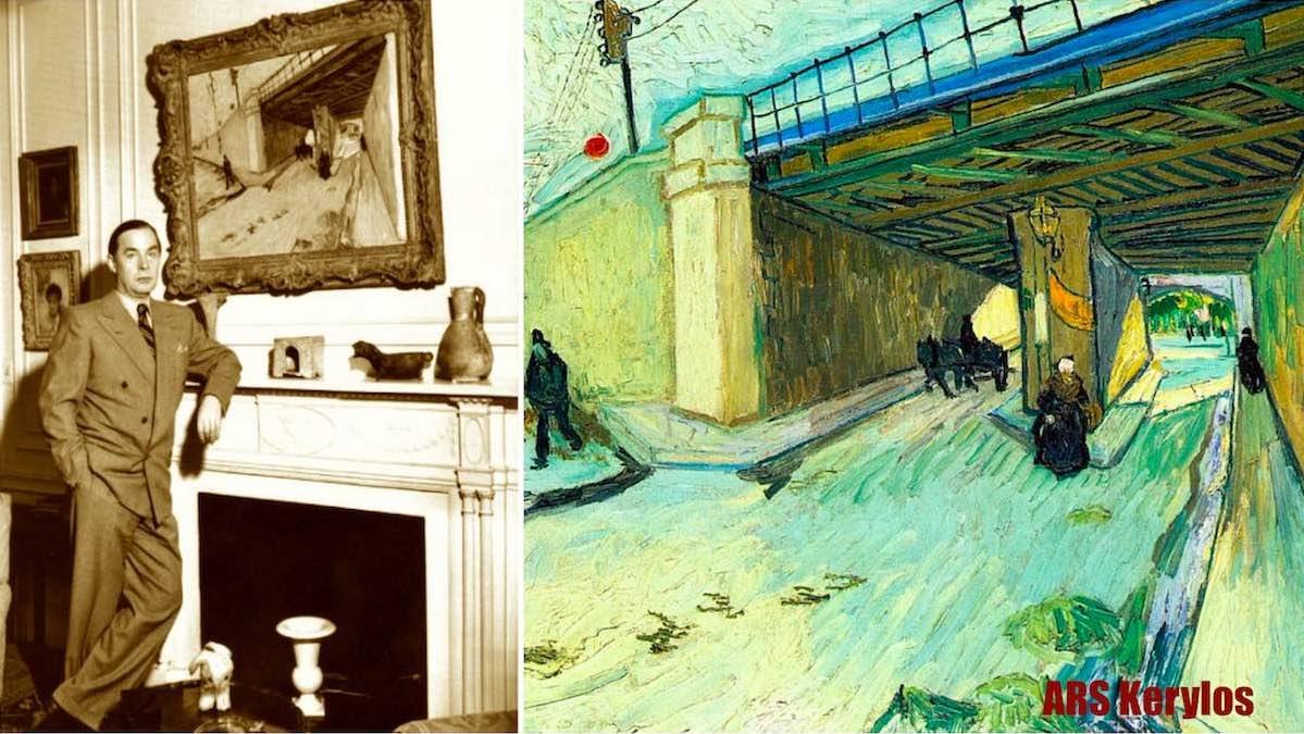 "пейзаж Ван Гога ""Железнодорожный мост через авеню Монмажур"""