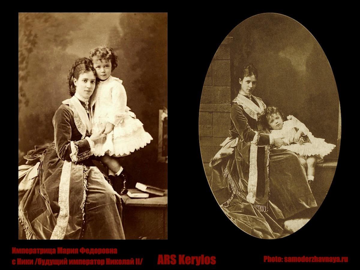 Императрица Мария Федоровна с Ники