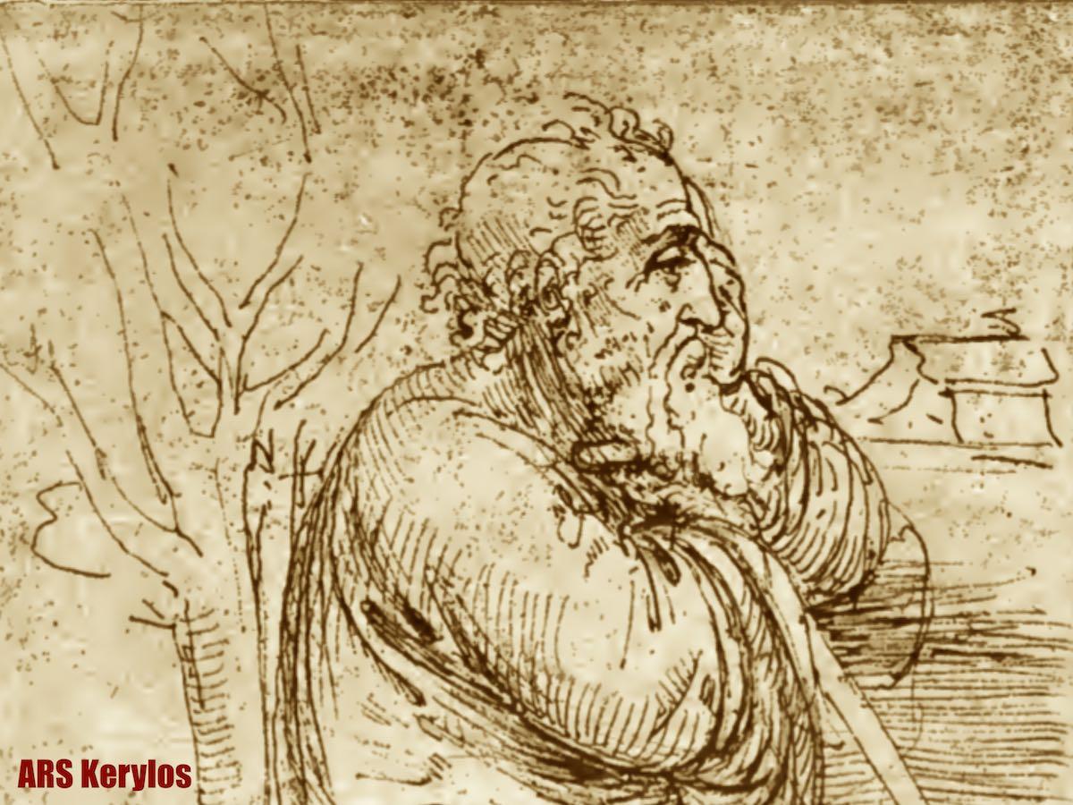 Леонардо да Винчи. Рисунок из дневника