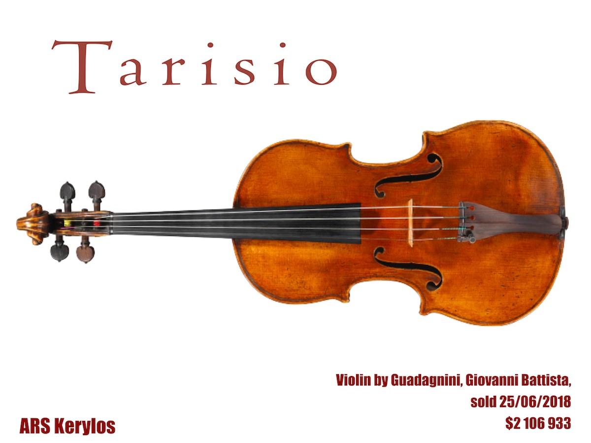 """скрипка Гваданіні, аукціон """"Tarisio"""""""