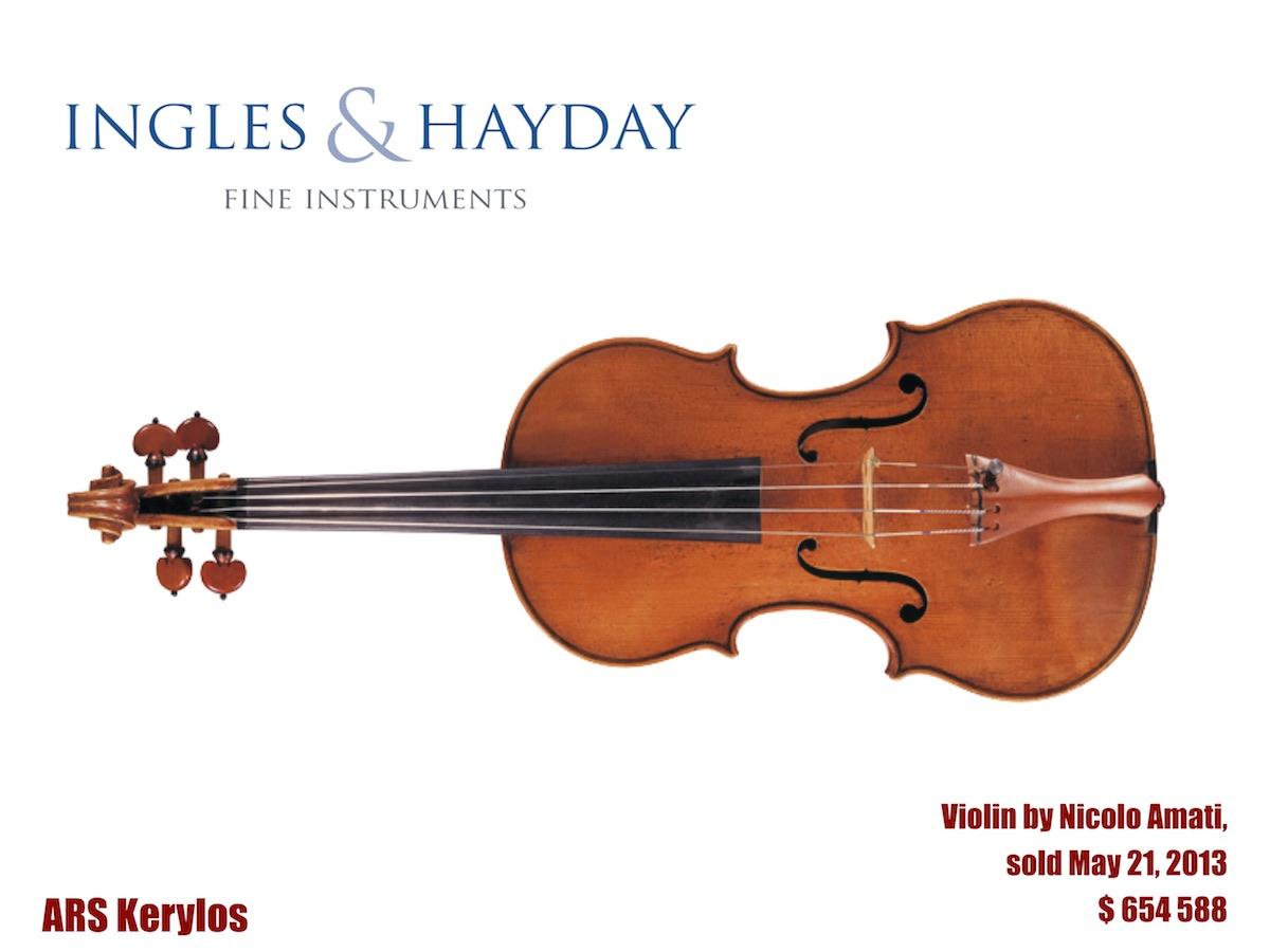 """скрипка Ніколо Аматі, аукціон """"Ingles & Hayday"""""""