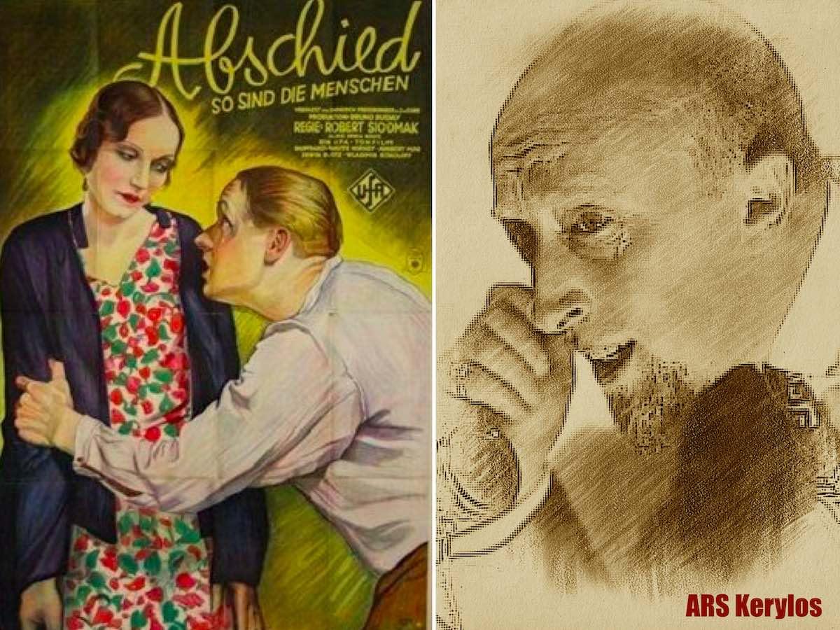 """Константин Миклашевский в кинокартине """"Прощание"""" 1930 года («Abschied»)"""
