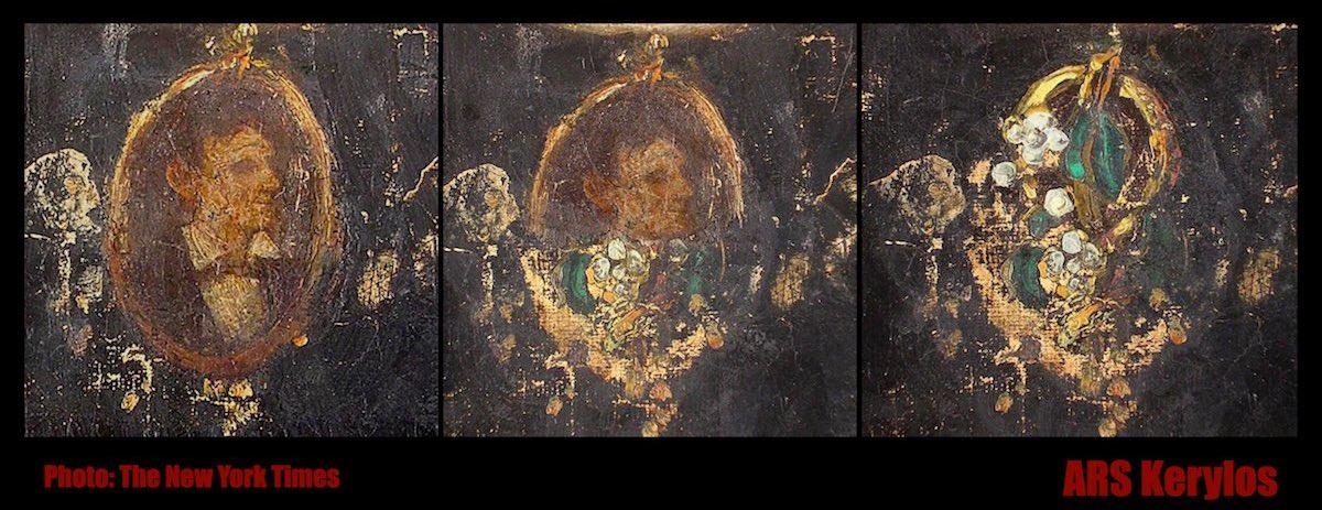 поддельная брошь с портретом Авраама Линкольна