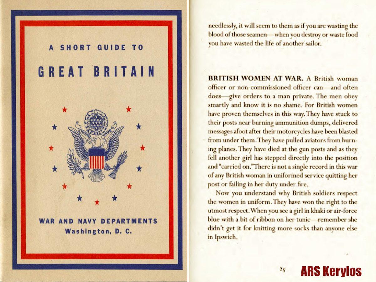 Инструкция для американских солдат в Великобритании