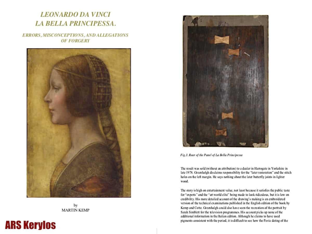 """Статья Мартина Кемпа """"Леонардо да Винчи. Прекрасная принцесса. Ошибки, проблемы и предположения"""""""