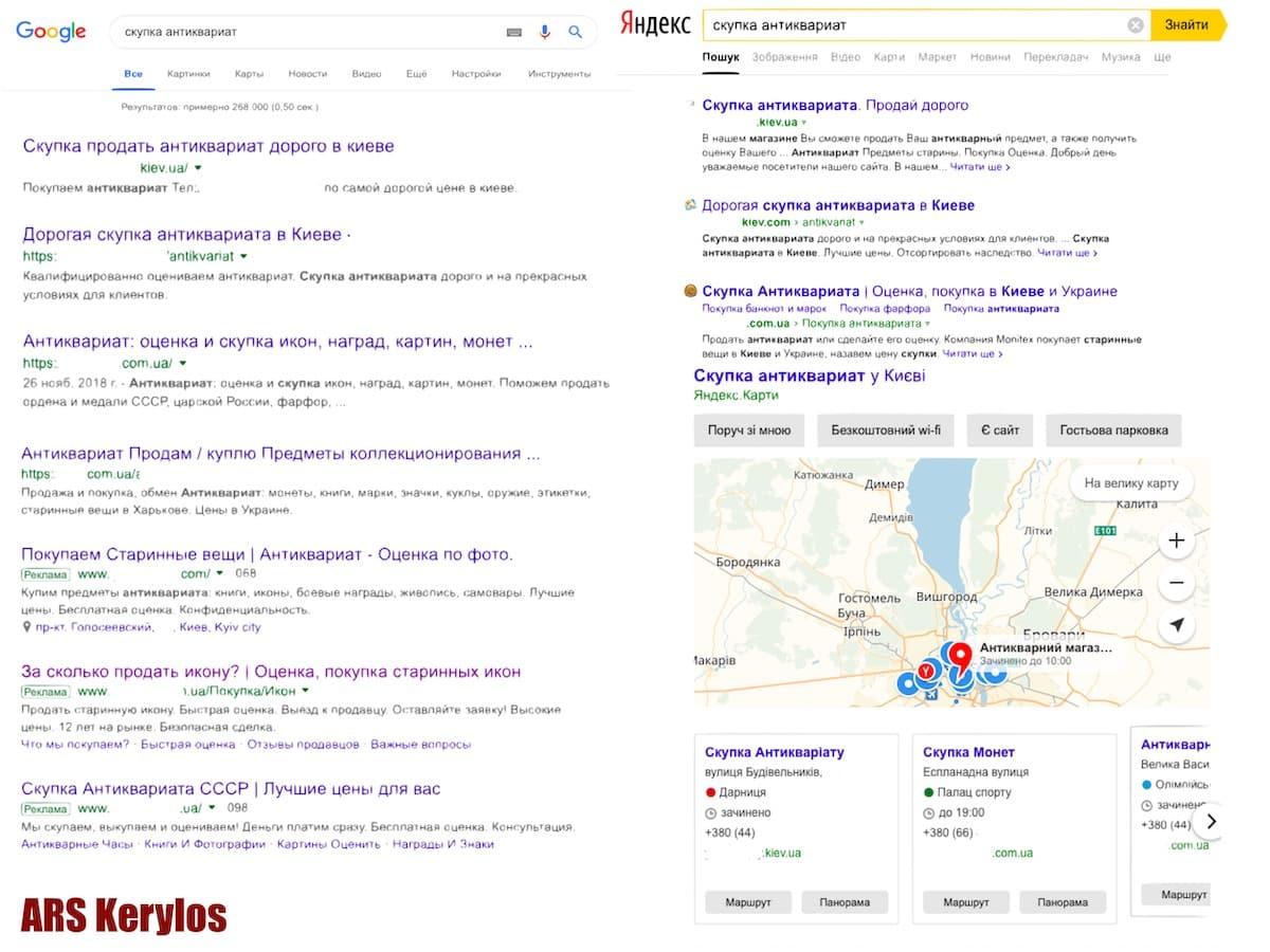 Почему много рекламных объявлений оценщиков антиквариата в Google и Яндекс?