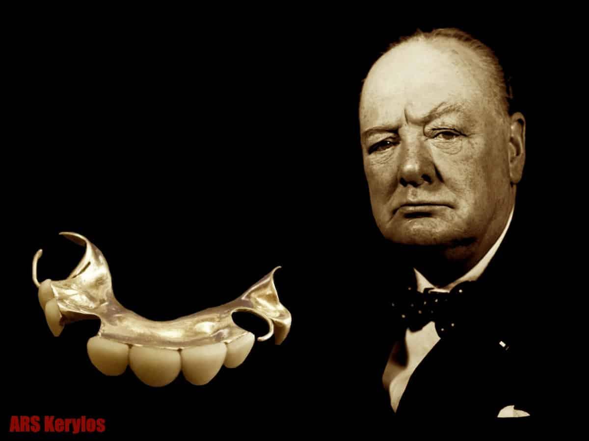 Верхний зубной протез Уинстона Черчилля