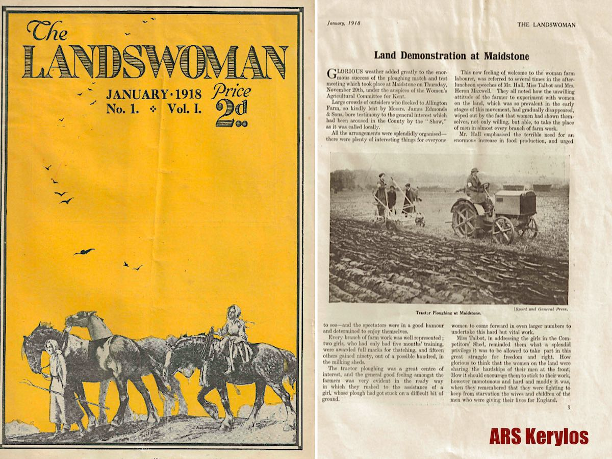 Первое издание журнала «The Landswoman», январь 1918 года.