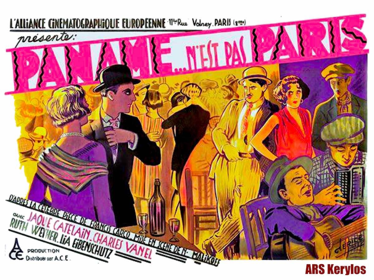 Афиша кинокартины «Апачи Парижа» («Die Apachen von Paris»), 1927 год