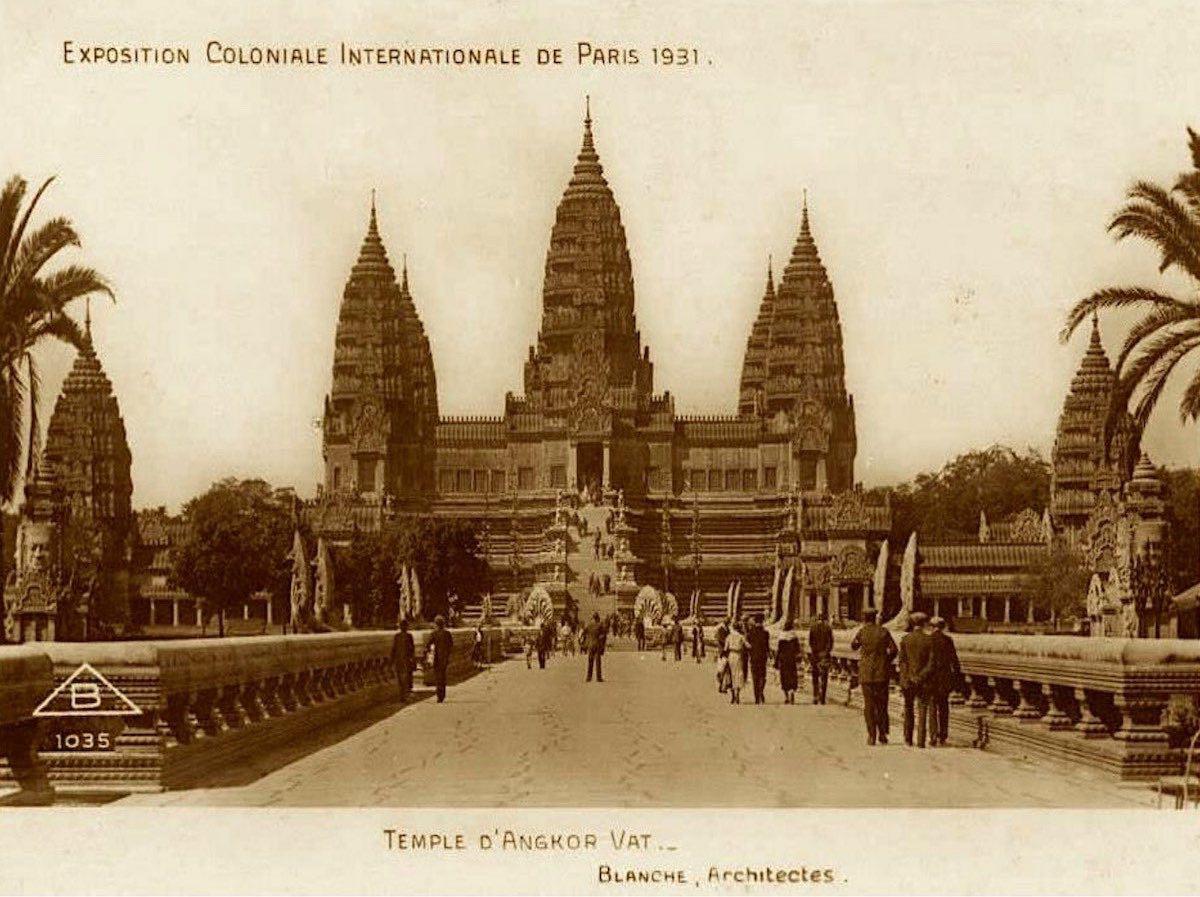 Реконструкция храма Ангкор-Ват. Колониальная выставка, 1931 год