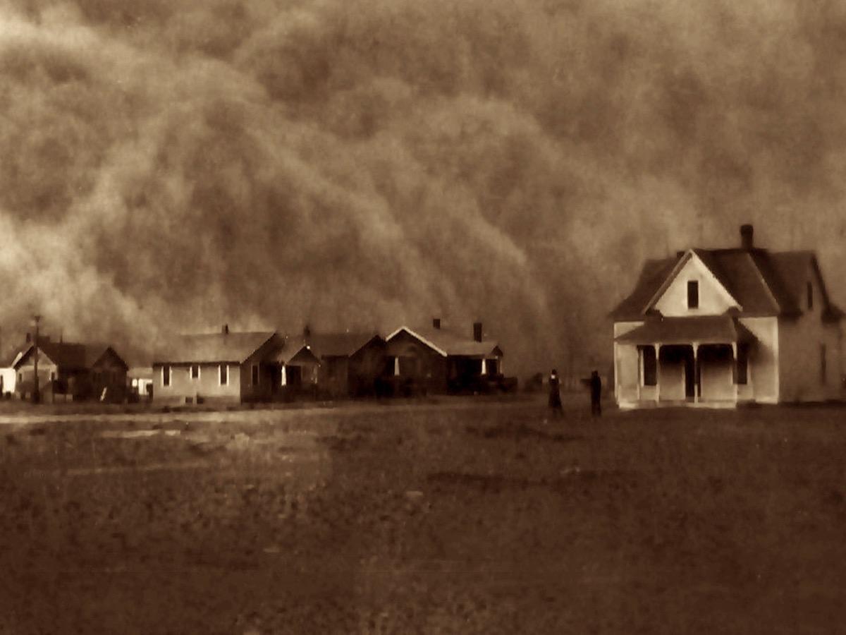 «Пылевое облако», Техас, 1935 год.