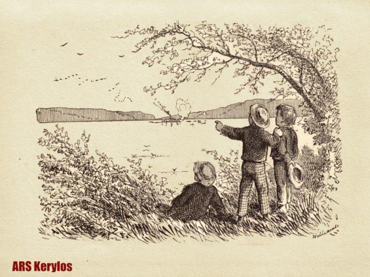 Том Сойер - первые иллюстрации американского художника