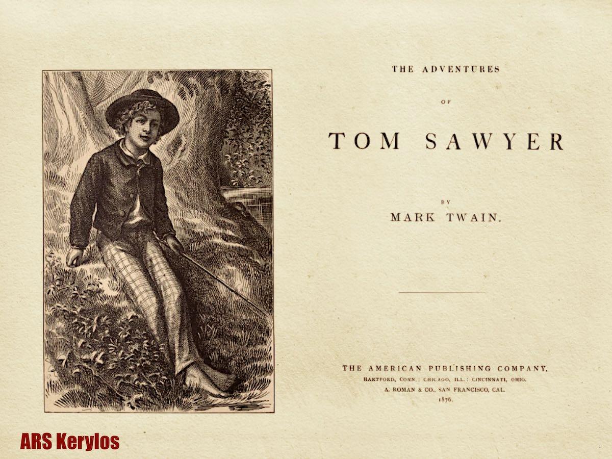 """Первое издание """"Приключения Тома Сойера"""", 1876 год"""