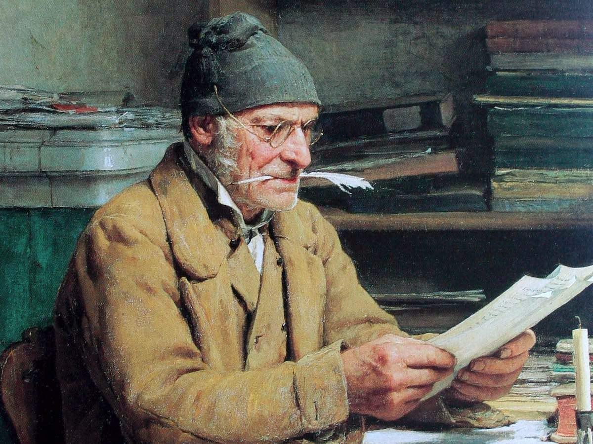 Альберт Анкер. Сельский писарь